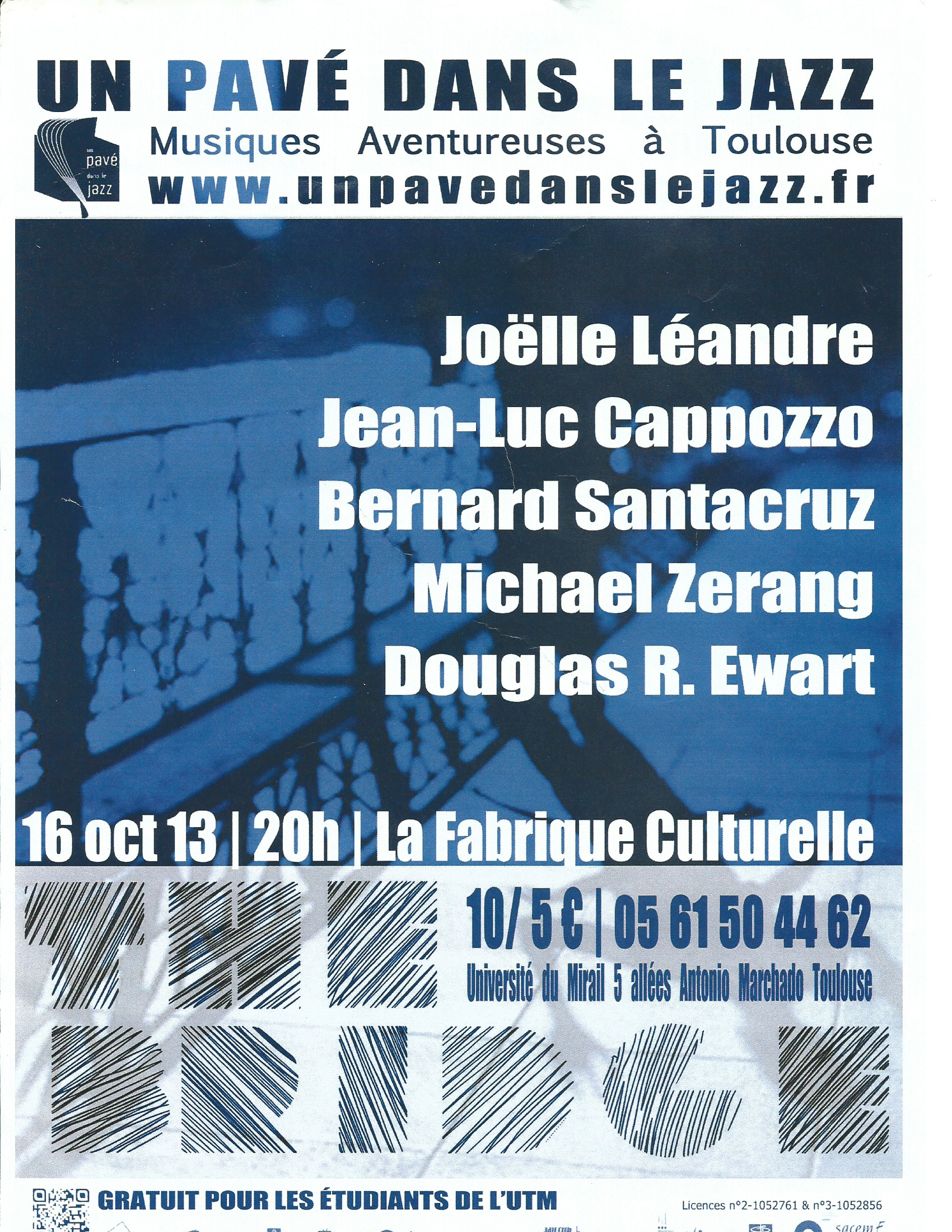Un pave dans le Jazz poster – Oct. 16 2013