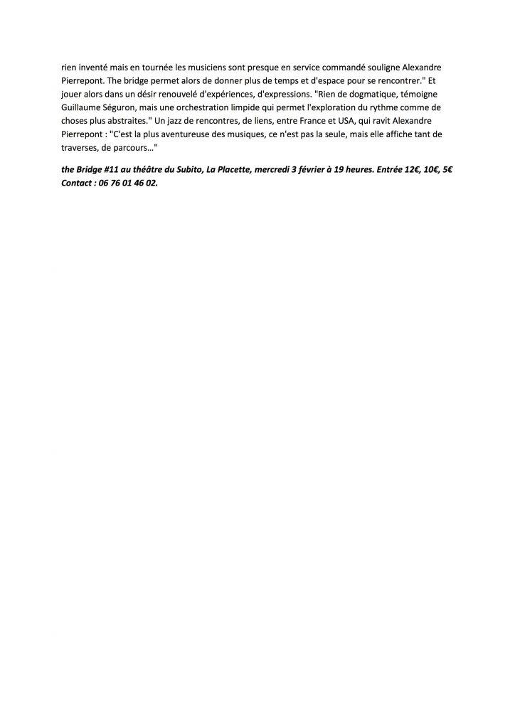 Article ( Page Web ) Midi Libre 03 02 2016 2